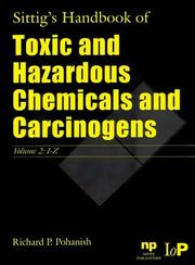 Cover of: Sittig's Handbook of Toxic and Hazardous Chemicals and Carcinogens 2 Volume Set