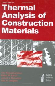 Cover of: Handbook of thermal analysis of construction materials |