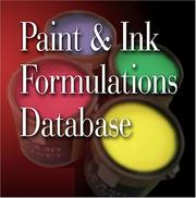 Cover of: Paint and Ink Formulations Database | Ernest Flick