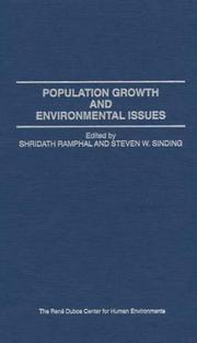 Cover of: Population growth and environmental issues