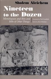 Cover of: Nineteen to the dozen