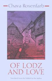 Cover of: Of Lodz and Love (Library of Modern Jewish Literature)
