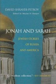 Cover of: Jonah and Sarah | David Shrayer-Petrov (David Shraer-Petrov)