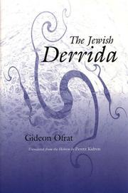 Cover of: The Jewish Derrida (The Library of Jewish Philosophy) | Gideon Ofrat