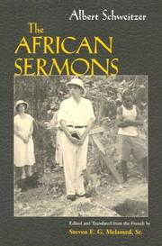 Cover of: The African Sermons (The Albert Schweitzer Library)