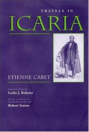 Cover of: Travels in Icaria (Utopianism and Communitarianism)