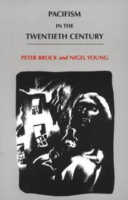 Cover of: Pacifism in the twentieth century