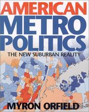 Cover of: American Metropolitics | Myron Orfield