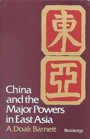 Cover of: China and the major powers in East Asia