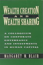 Cover of: Wealth creation and wealth sharing