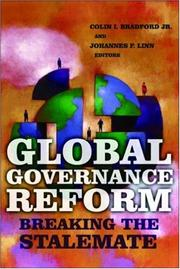 Cover of: Global governance reform