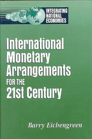 Cover of: International monetary arrangements for the 21st century