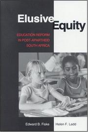 Cover of: Elusive Equity: Education Reform in Post Apartheid South Africa