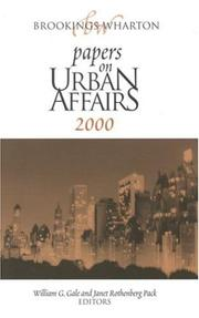 Cover of: Brookings-Wharton Papers on Urban Affairs |