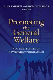 Cover of: Promoting the General Welfare |