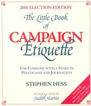 Cover of: The little book of campaign etiquette