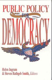 Cover of: Public policy for democracy |