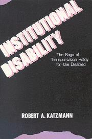 Cover of: Institutional disability