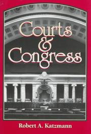 Cover of: Courts and Congress