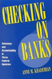 Cover of: Checking on banks | Anne M. Khademian