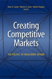 Cover of: Creating Competitive Markets |