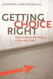 Cover of: Getting choice right |