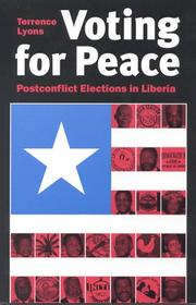 Cover of: Voting for peace | Terrence Lyons