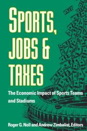 Cover of: Sports, Jobs, and Taxes