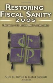 Cover of: Restoring Fiscal Sanity 2005 |