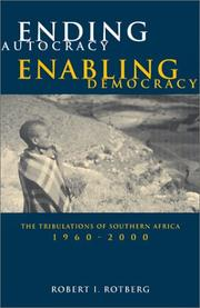 Cover of: Ending autocracy, enabling democracy