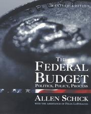 Cover of: The federal budget | Allen Schick