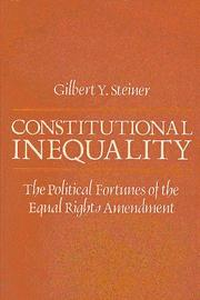 Cover of: Constitutional inequality