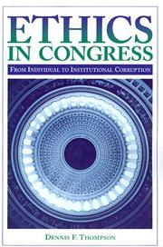 Cover of: Ethics in Congress