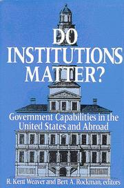 Cover of: Do institutions matter?