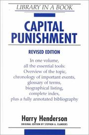 Cover of: Capital punishment