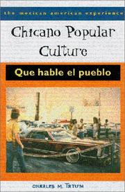 Cover of: Chicano popular culture | Charles M. Tatum