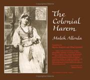 Cover of: The colonial harem | Malek Alloula