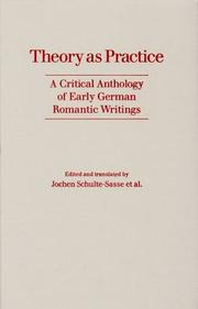 Cover of: Theory As Practice |