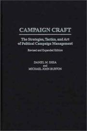 Cover of: Campaign Craft | Daniel M. Shea