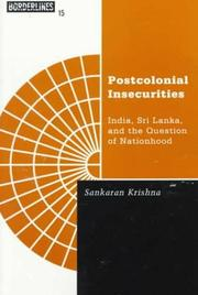 Cover of: Postcolonial insecurities