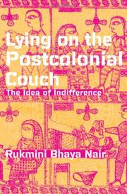 Cover of: Lying on the Postcolonial Couch | Rukmini Bhaya Nair.