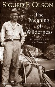 Cover of: The meaning of wilderness