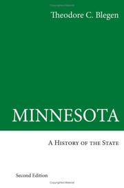 Cover of: Minnesota, a history of the state