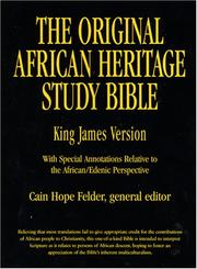 Cover of: The Original African Heritage Study Bible |