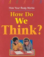 Cover of: How do we think?