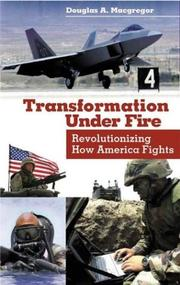 Cover of: Transformation Under Fire: Revolutionizing How America Fights
