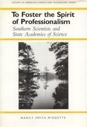 Cover of: To foster the spirit of professionalism | Nancy Smith Midgette
