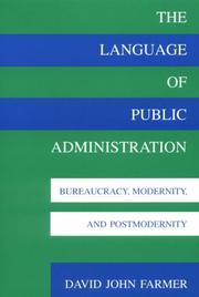 Cover of: The language of public administration