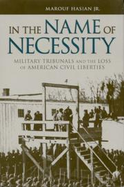 Cover of: In the name of necessity