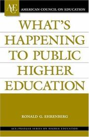 Cover of: What's Happening to Public Higher Education? (ACE/Praeger Series on Higher Education)